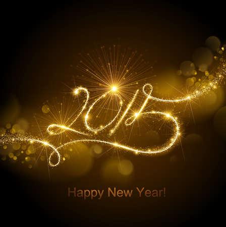 nieuwjaar: Nieuwe Jaar 2015 vuurwerk