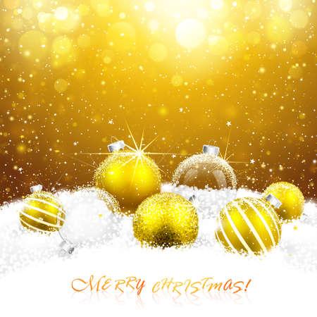 Decorazioni di Natale sulla neve Vettoriali