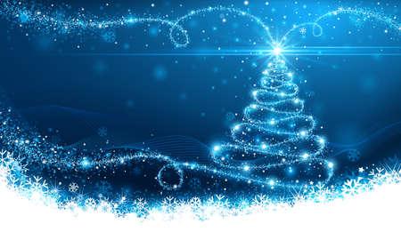 Christmas magic tree Vettoriali