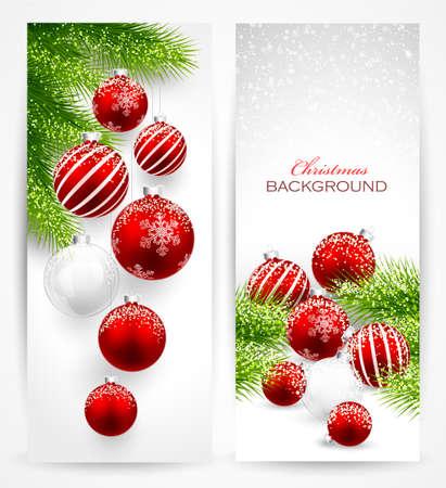 Christmas banners Vettoriali