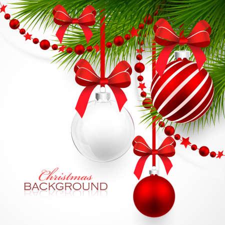 cintas navide�as: Adornos navide�os Vectores