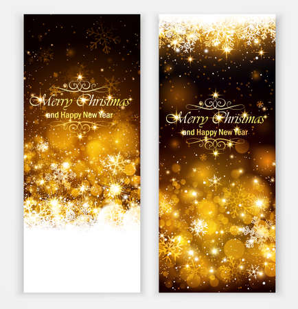 Christmas greeting cards with text and shadow