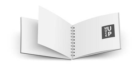 open notebook: Open notebook isolated on white background. Vector Illustration