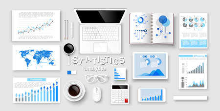 Creative design infographic and statistic Concepts, Web Templates. Vector illustration Vector