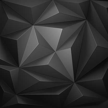 Low poly, geometric background gray color.  Vector