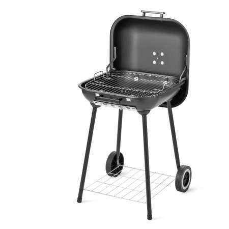 grilled: Barbecue grill isolated on white background