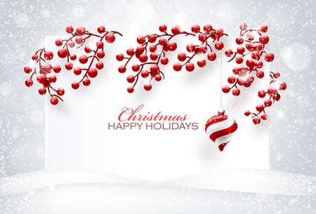 Decorazioni di Natale su sfondo bianco. Illustrazione vettoriale Archivio Fotografico - 46976655