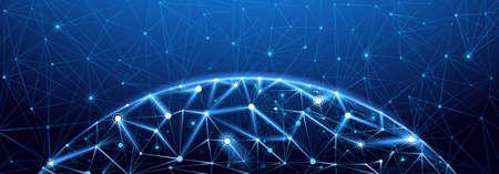 Globale Netzwerkverbindung. Weltkarte Punkt, internationale Bedeutung. Vektor-Illustration Standard-Bild - 55029960