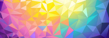 triangular: Low poly colored background. illustration