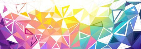 triangle pattern: Low Poly Colorful Background. illustration Illustration