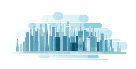 都市風景の背景。抽象的なイラスト
