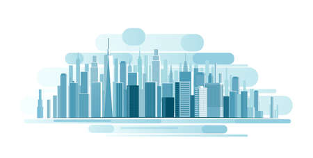 Fondo del paisaje urbano. resumen de la ilustración