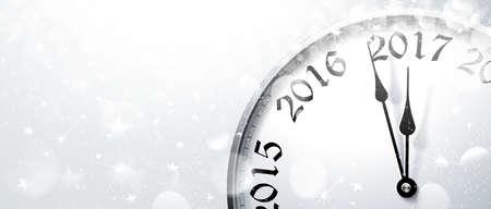 Eve 2017. Vector illustration du Nouvel An