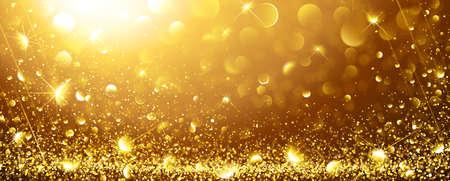 Boże Narodzenie Złote tło z gwiazdami. ilustracji wektorowych