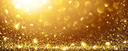 Christmas Gold Background with stars. Vector illustration