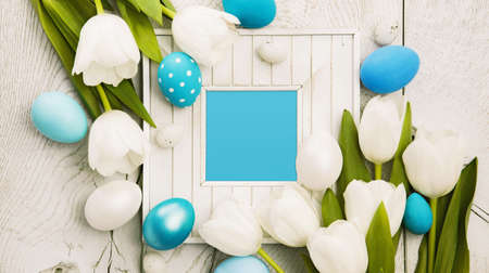 holiday tradition: Easter decoration with frame