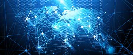 Globales Netzwerk Hintergrund. Vektor