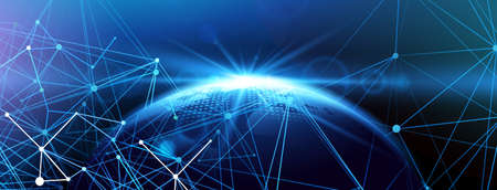 Global network background. Vector