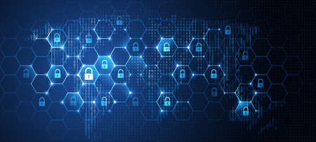 Global network security. Vector