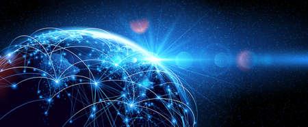 Global network World  イラスト・ベクター素材