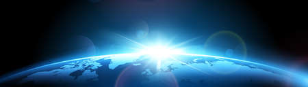 Planeta ziemia ze słońcem Ilustracje wektorowe