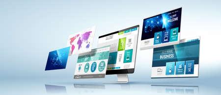 Modello di progettazione web. Vettore Vettoriali