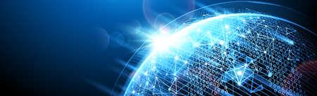 Digital network. Vector