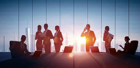 teamwork: Business People Teamwork. Vector