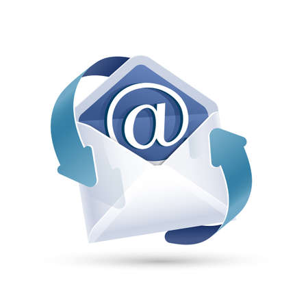 Open Email Letter. Vector