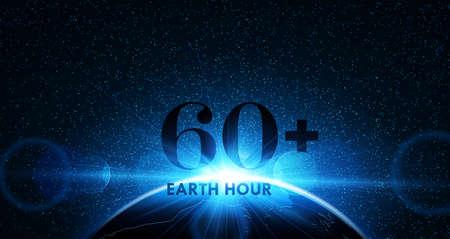 Earth Hour. Vector Ilustrace