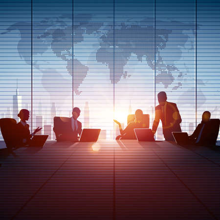 group of workers: Business People Teamwork. Vector