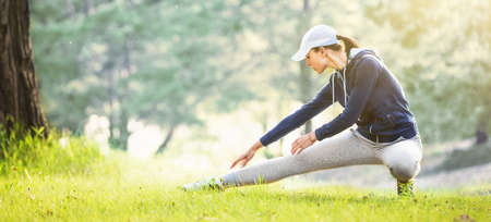 Outdoor Workout in Park Stockfoto