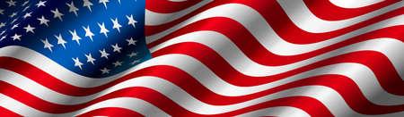 Vecteur de drapeau des États-Unis Vecteurs