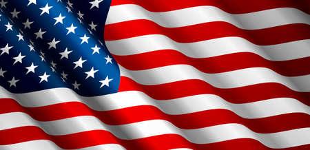 Vecteur de drapeau des États-Unis