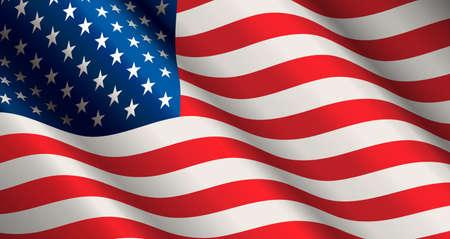 Vereinigte Staaten Flagge Vektor
