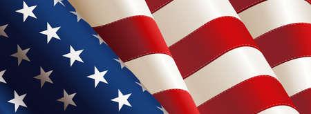 Nationalflagge der Vereinigten Staaten von Amerika. Vektor-Illustration Illustration