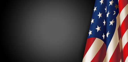 Amerikanische Flagge für Memorial Day. Vektor Illustration