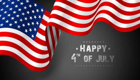 Flagge Vereinigte Staaten von Amerika. Vektor Illustration
