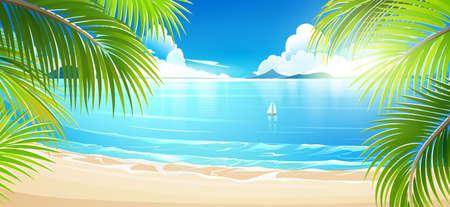 Tropische Insel. Vektor