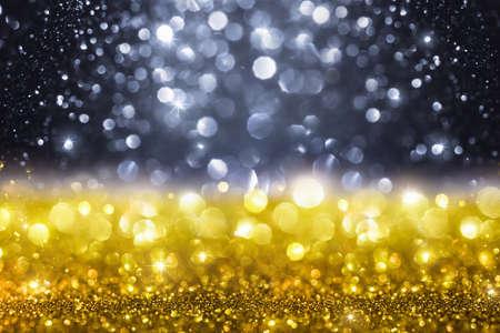 Christmas Golden Glitter Background Lizenzfreie Bilder