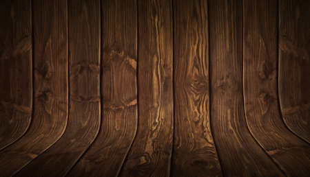 Old grungy curved wooden background. Wood texture