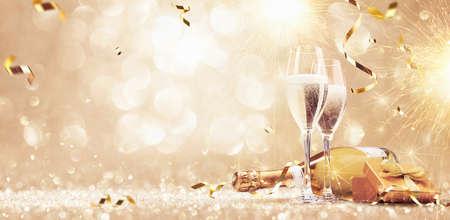 Nieuwe jaar vooravond viering achtergrond