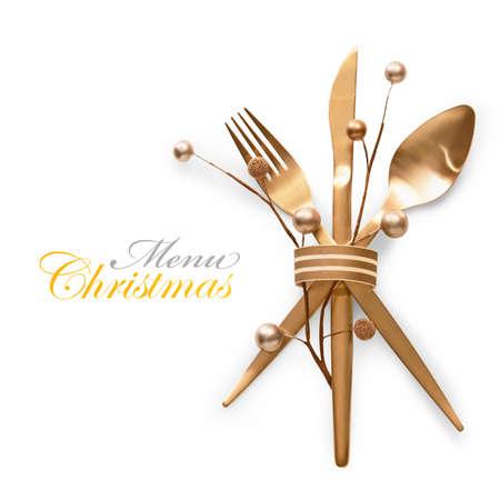 Concept de menu de Noël Banque d'images - 89860287