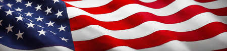 American Wave Flag Stock Photo