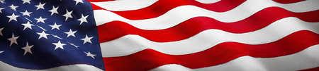American Wave Flag Standard-Bild