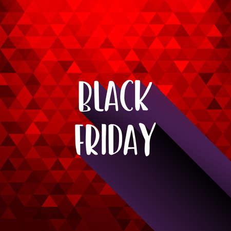 Black Friday Sale Red background texture. Vector Standard-Bild - 111504517