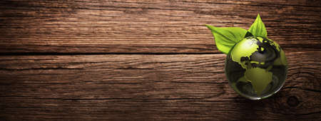 Green Planet Save Earth. Environment Ecology Concept Stockfoto