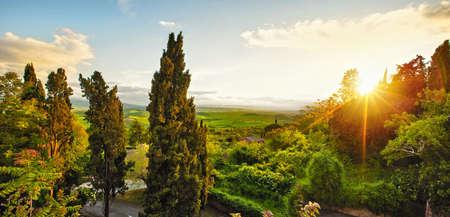 Landscape in Tuscany, Italy. Valley Val dOrcia Stockfoto