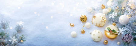 Christmas Balls With Glitter And Stars. Winter Decorations