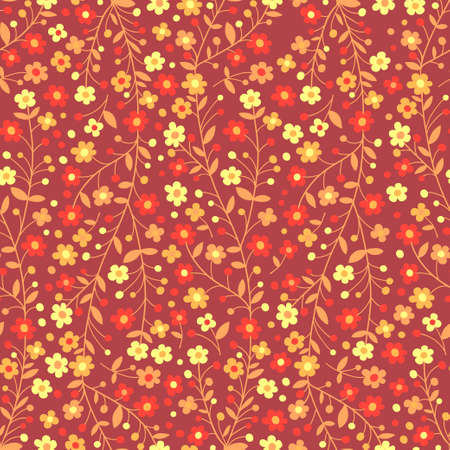 Seamless pattern of flowering branches  Vector illustration  Vector